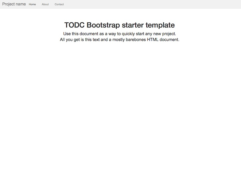 getting started todc bootstrap. Black Bedroom Furniture Sets. Home Design Ideas